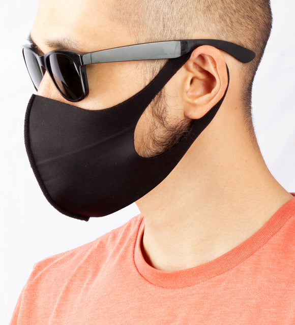Male model wearing an Anti Dust Face Mask Cover
