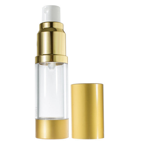 Airless Spray Bottle Refillable Travel Container in Gold - 0.5 oz