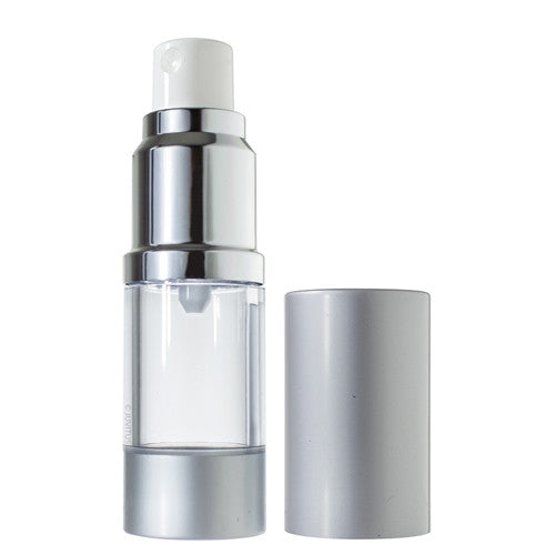 Refillable Airless Spray Bottle in Silver Matte - .34 oz / 10 ml