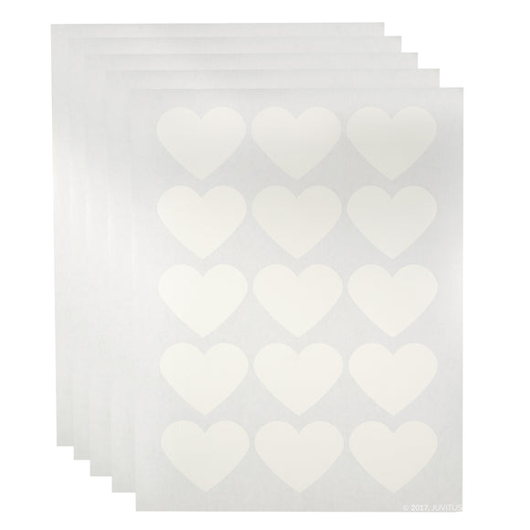 White Heart Waterproof Essential Oil Labels for Bottles and Jars - 2.2754