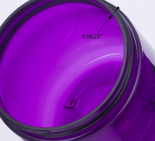 Large 8 oz / 240 ml Purple PET BPA Free Refillable Plastic Jar  + Labels