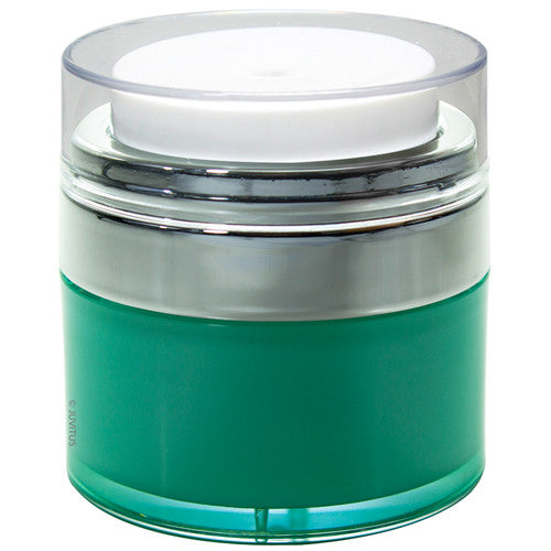 Refillable Airless Jar in Teal - .5 oz / 15 ml