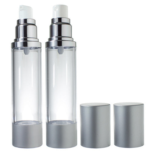 Airless Pump and Spray Bottle Refillable Travel Set - 1.7