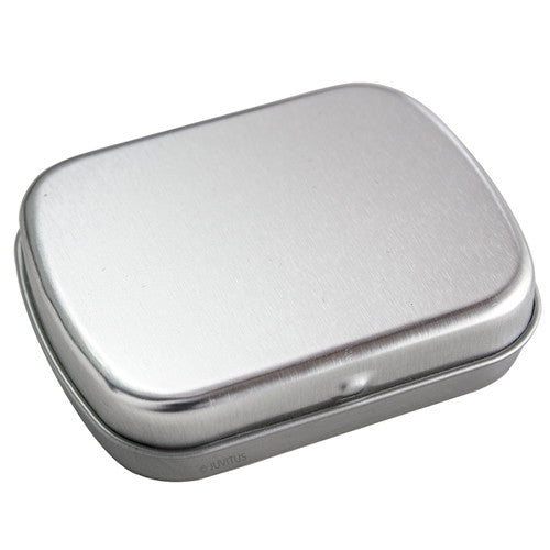 Metal Hinge Top Steel Tin Container - 1 oz