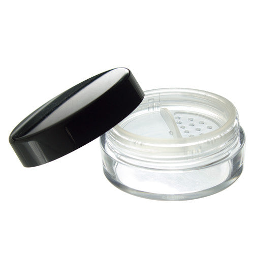 Clear Empty Refillable Powder Sifter Cosmetic Makeup Jar - 20 ml - JUVITUS