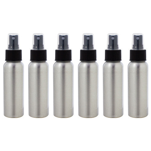 Aluminum Refillable Travel Spray Bottle - 2.7 oz + Travel Bag