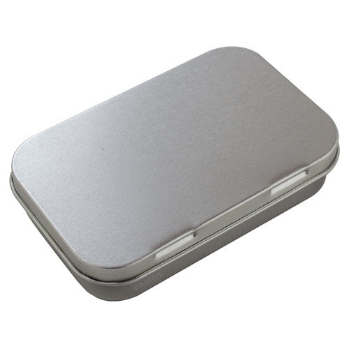 Metal Hinge Top Steel Tin Container - 3 oz (Medium)