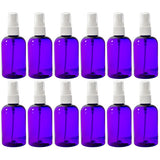 Purple Plastic Boston Round Fine Mist Spray Bottle with White Sprayer - 4 oz / 120 ml