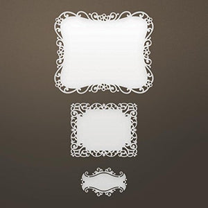 "Artdeco Creations Ultimate Crafts Ooh La La Die-Nested Labels; 3""X3.9"""