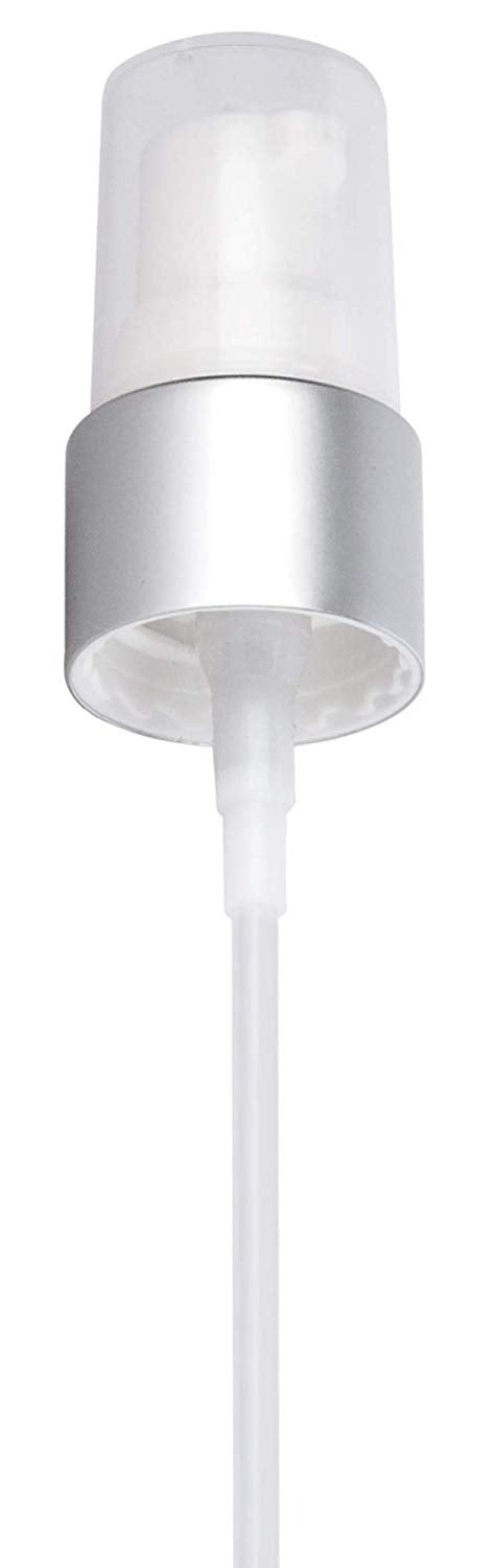 20-410 Silver And White Treatment Pump Top Closure, 4.00 inch dip tube length (12 PACK)