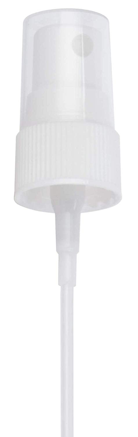 20-410 White Ribbed Fine Mist Spray Top Closure, 6.00 inch dip tube length (12 PACK)