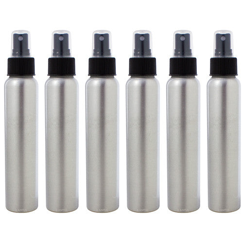 Aluminum Refillable Spray Bottle Mister - 4 oz