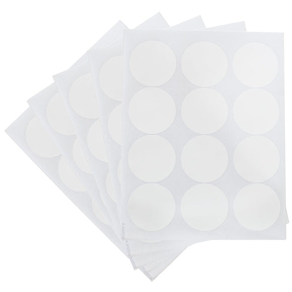 White Circle Waterproof Essential Oil Labels for Bottles & Jars – 2.5