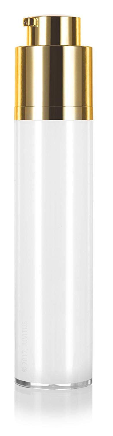 Twist Top Airless Pump Bottle in White Gold - 1.7 oz / 50 ml