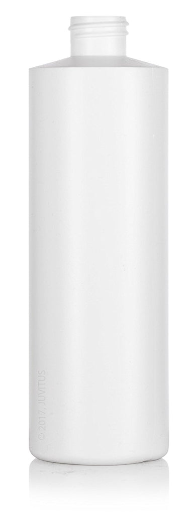 Large White Refillable Plastic Squeeze Bottle with Push Pull Cap Dispenser 16 oz  + Labels