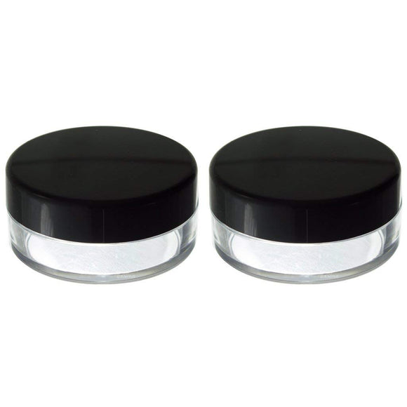 Powder Sifter Empty Refillable Cosmetic Makeup Jar (2 Pack) - 20 ml / 20 grams