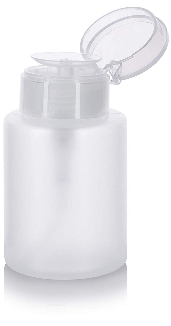 Plastic One Touch Dispener Bottle in Natural Clear with Flip Top Cap - 5.4 oz / 160 ml