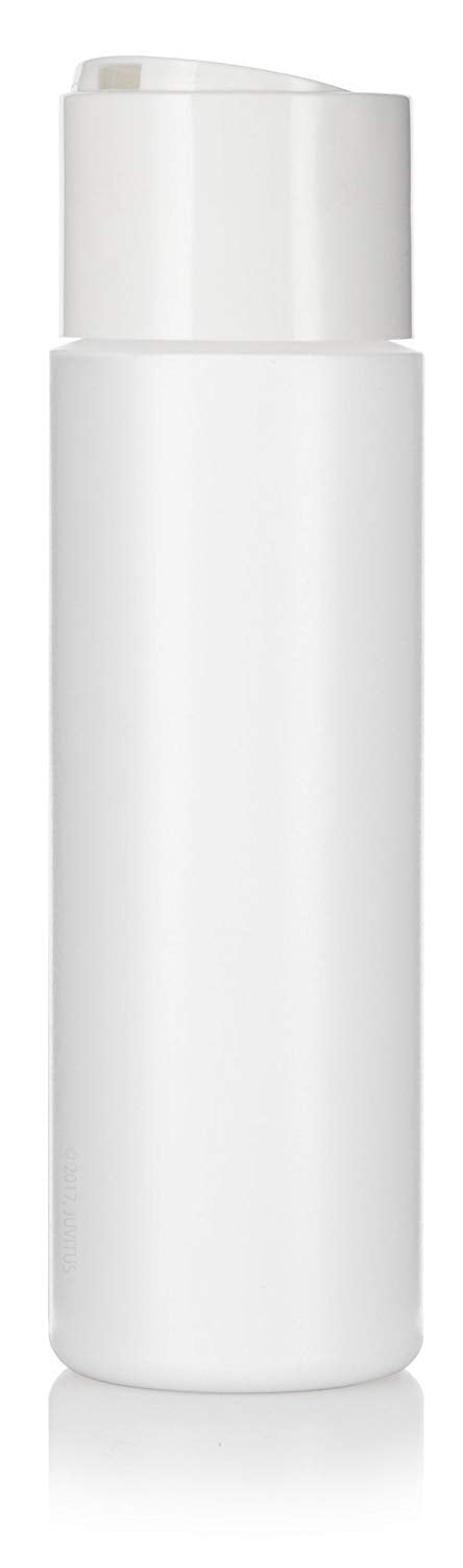White Plastic Professional Squeeze Bottle with Wide White Disc Cap - 8 oz / 250 ml