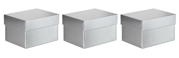 Silver Steel Metal Signature Gift Boxes