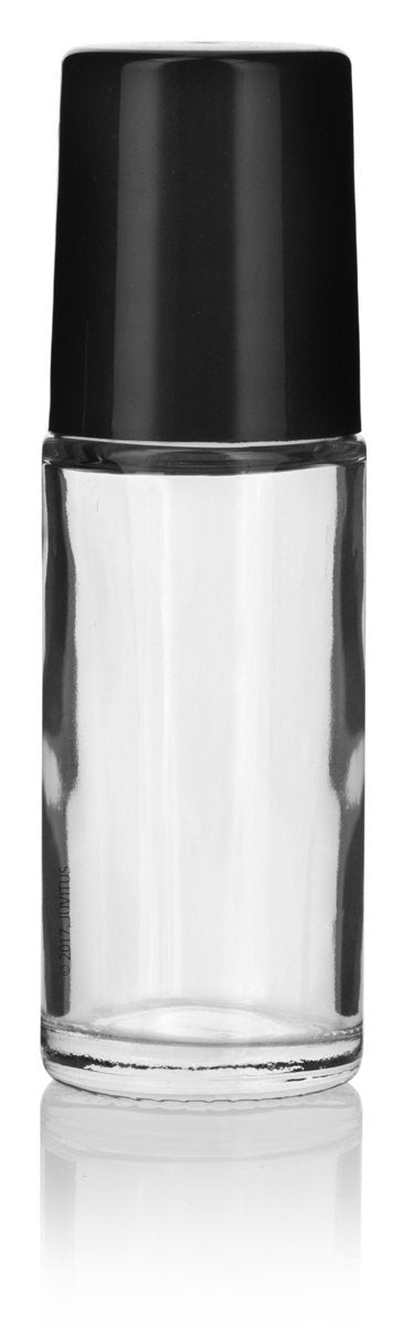 Clear Glass Roll On Bottle with Roll On Applicator - 1 oz / 30 ml