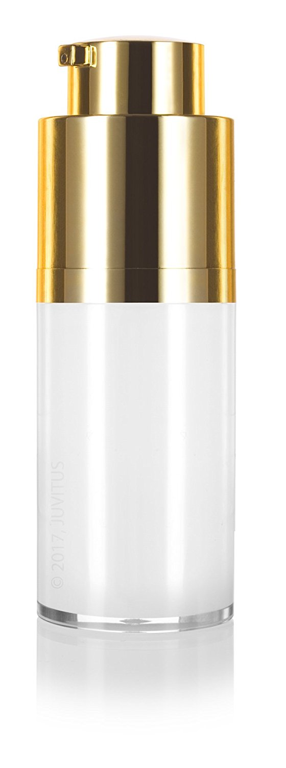 Twist Top Airless Pump Bottle in White Gold - .5 oz / 15 ml