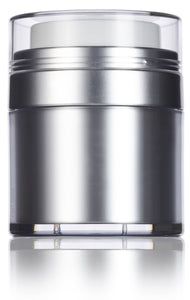 Refillable Airless Jar in Platinum Silver - 1 oz / 30 ml