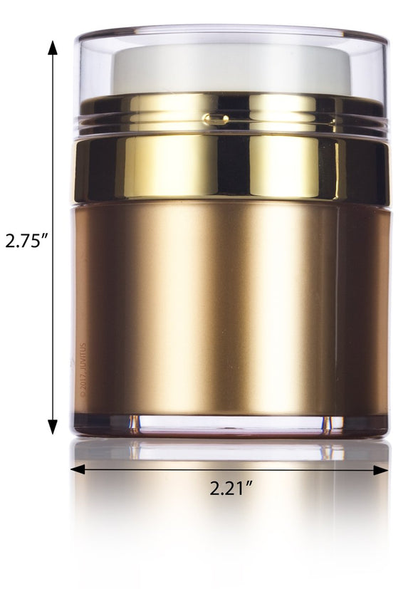Refillable Airless Jar in Gold - 1 oz / 30 ml