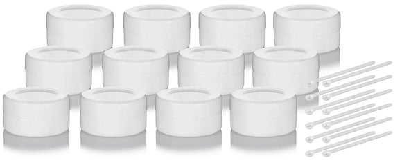 7 mL White Silicone Concentrate Container + Mini Scoop (12 Pack)