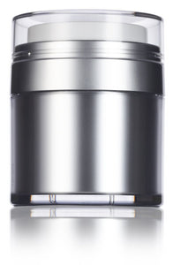 Airless Refillable Jar in Platinum Silver - 1.7 oz / 50 ml
