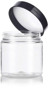 Plastic Jar in Clear with Black Foam Lined Lid - 4 oz / 120 ml