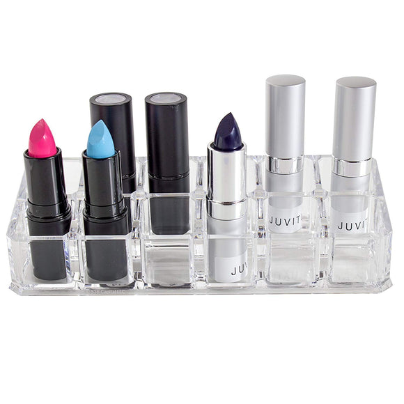12 Compartment Acrylic Cosmetic Lipstick Beauty Organizer