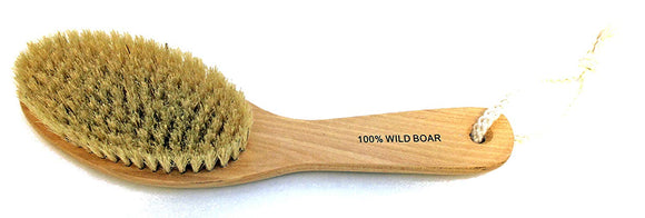 JUVITUS Natural Bristles Dry Body Brush