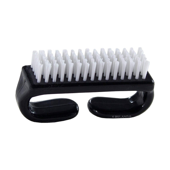 Nail Brush with Durable Plastic Handle (Black)