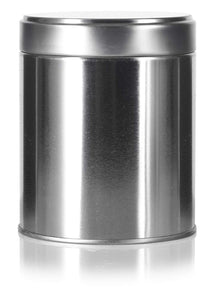 Wide Round Twist Top Tea Tin Canister Containers and Stainless Steel Metal Scoop Spoon