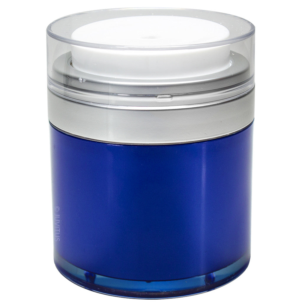 Blue Airless Refillable Jar 1 oz