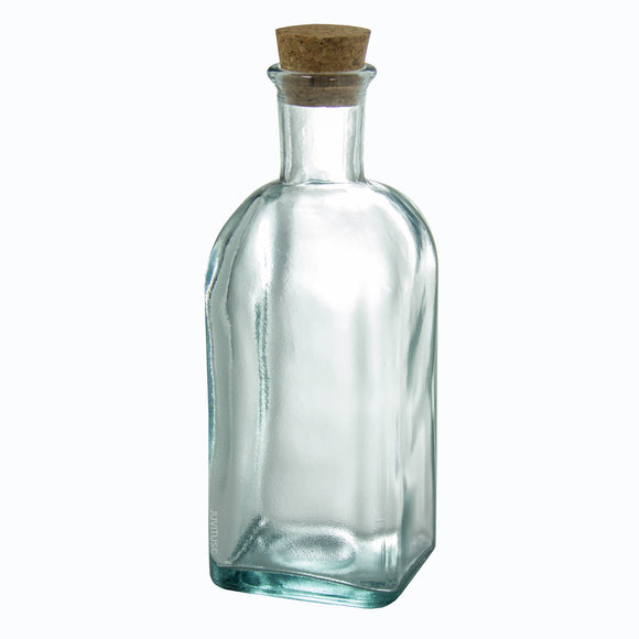 Glass Spanish Bottle in Clear with Natural Cork Top - 17 oz / 500 ml