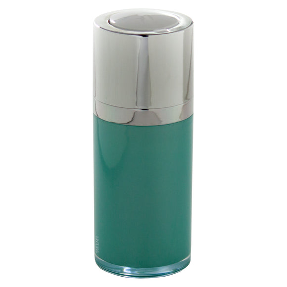 Airless Twist Top Teal Blue Pump Bottle - 15 ml / 0.5 oz + Clear Travel Bag
