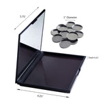 Magnetic Palette for Makeup & Eye Shadow with 12 Metal Pans (Medium size, 4.25 x 5.7 inches)
