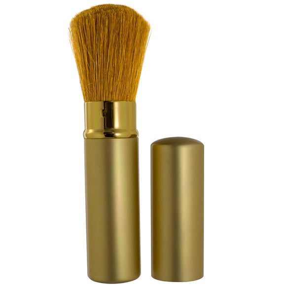 JUVITUS Retractable Travel Make-up Brush with Gold Handle