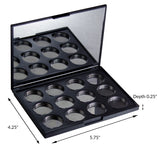 Magnetic Palette for Makeup & Eye Shadow + Foam Organizer Insert (Medium size, 4.25 x 5.7 inches)