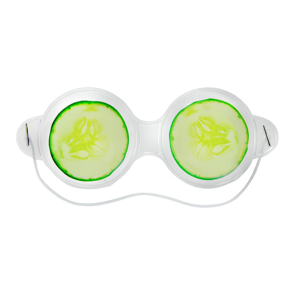 Cucumber Gel Hot and Cold Compress Eye Mask + Travel Bag