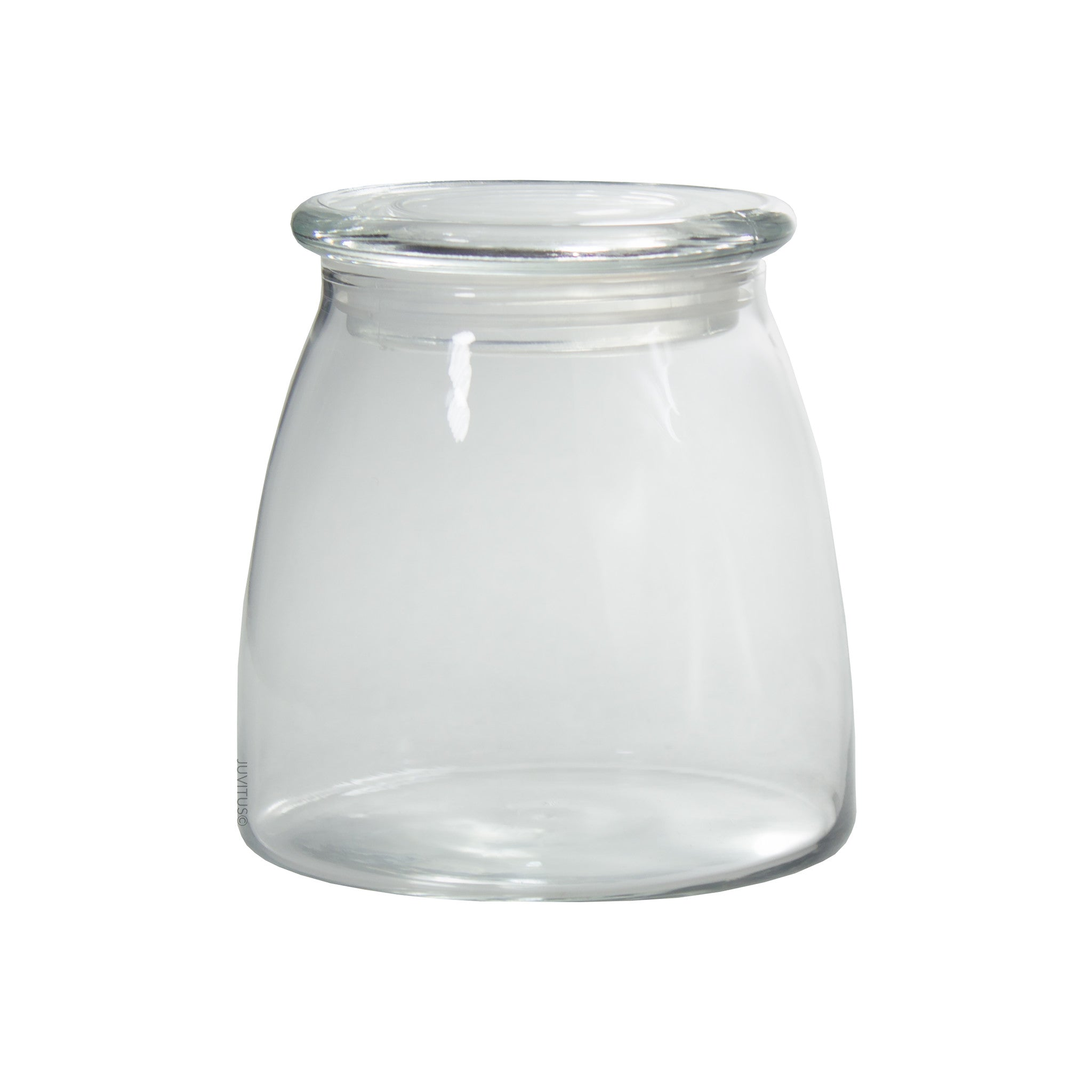Glass Candle Jar in Clear with Glass Lid - 27 oz / 800 ml ...
