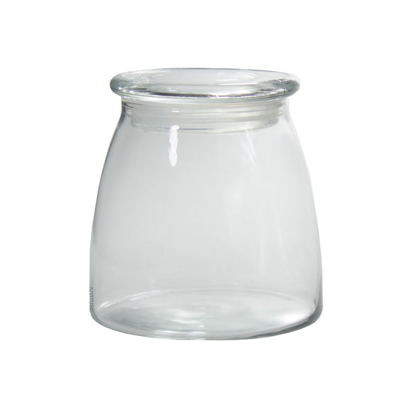 Glass Candle Jar in Clear with Glass Lid - 27 oz / 800 ml