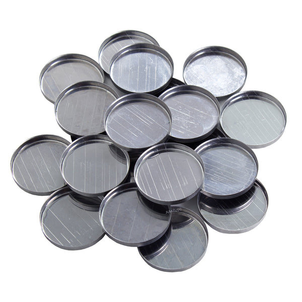 "Round Empty Magnetized Metal Pans 1"" Diameter (20 pack)"