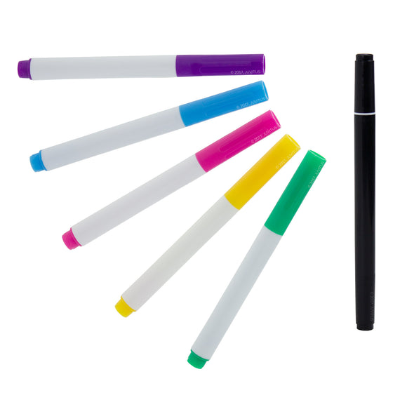 Set of 5 Assorted Colors Chalkboard Markers + 1 Double-Ended White Chalkboard Marker
