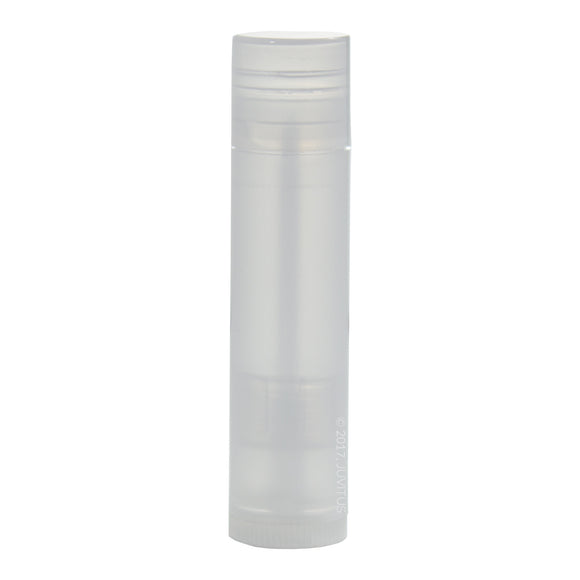 Clear Natural Empty DIY Lip Balm Container Tubes (20 pack) + Funnel, 0.15 oz (Standard Size) - Twist Up Base and Cap, For lip balm, solid perfume, body balms, cuticle creams and more!