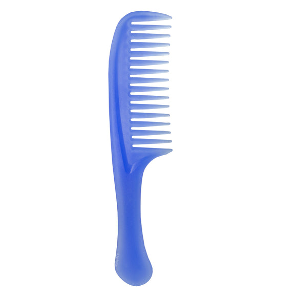 Plastic Wide Comb with Handle available in Blue, Pink, and White