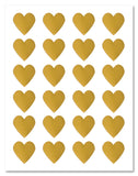 Shiny Gold Foil Heart Shaped Labels, 1.5 x 1.5 Inches, for Laser Printers with Downloadable Template and Printing Instructions, 5 Sheets, 120 Labels (TG15)
