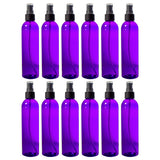 Purple Plastic Slim Cosmo Bottle with Black Treatment Pump - 8 oz / 250 ml - JUVITUS