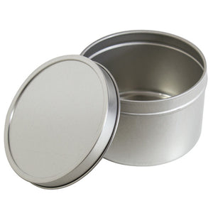 Metal Steel Tin Deep Container with  Tight Sealed Cover Lid - 8 oz